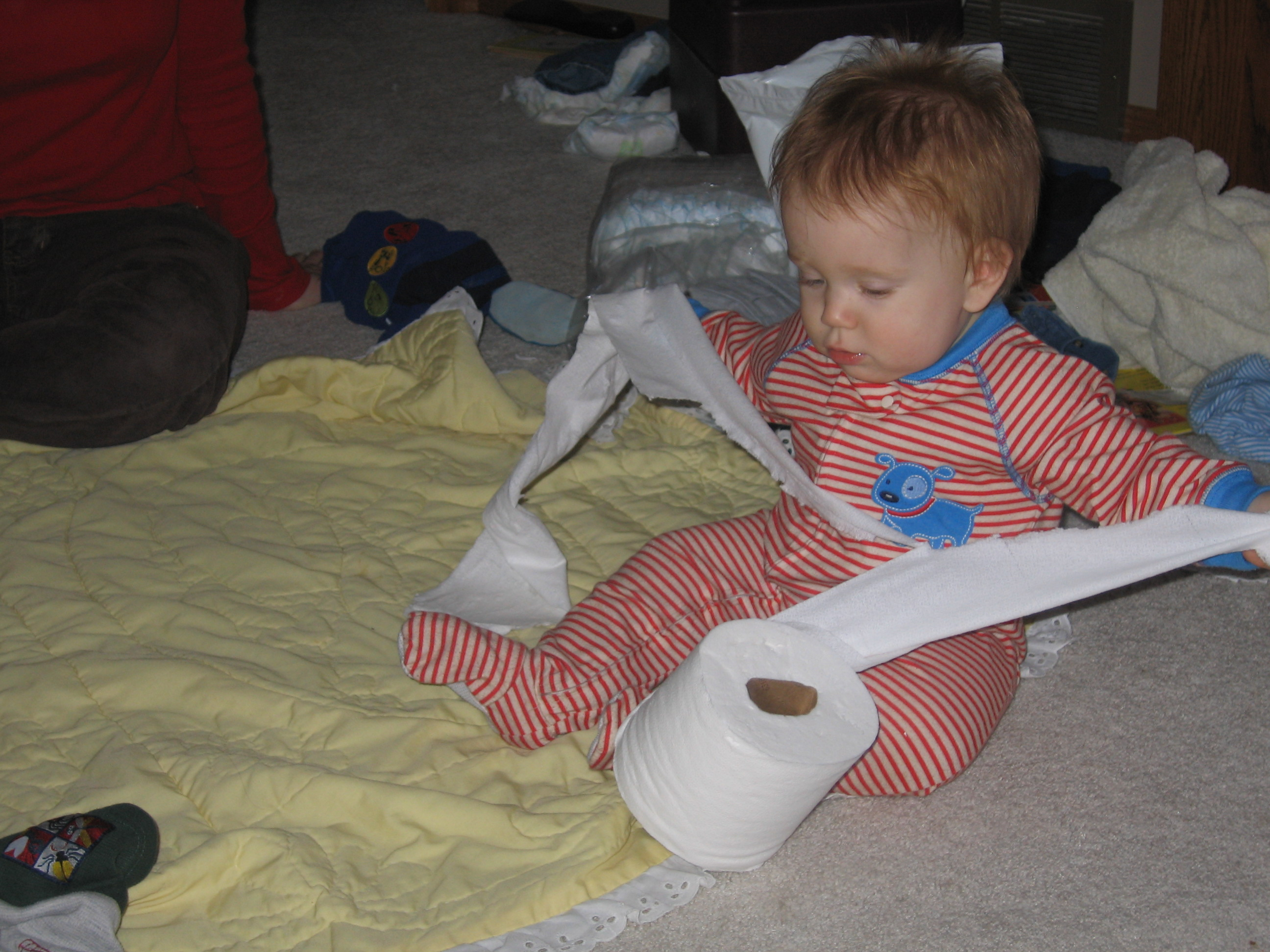 Joseph in to the Toilet Paper
