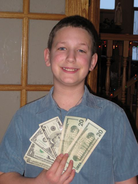 Landon and his 'camera fund'.