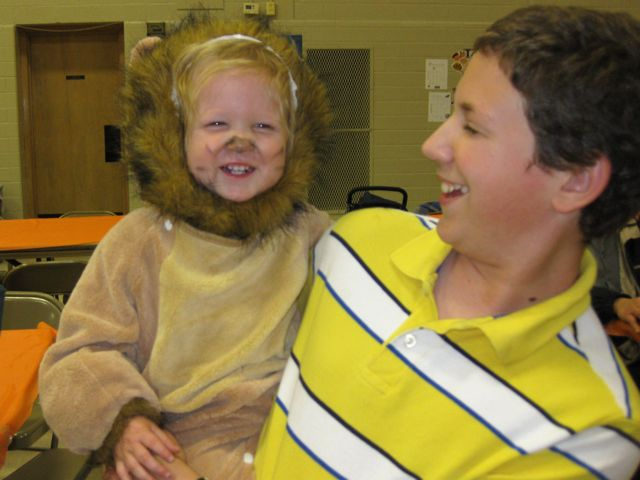 Daniel was a lion from Noah's Ark. This costume I didn't make.
